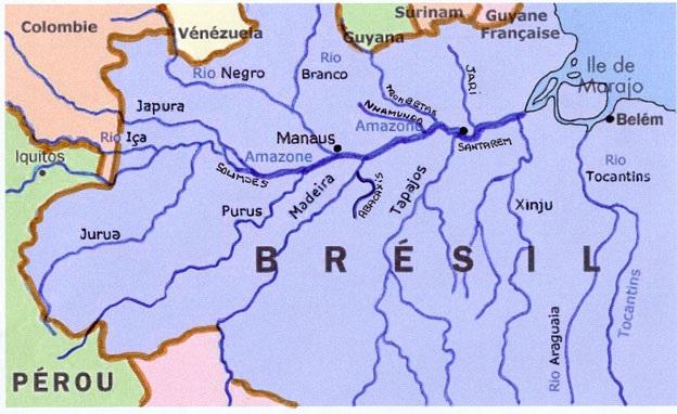 carte de l'Amazone