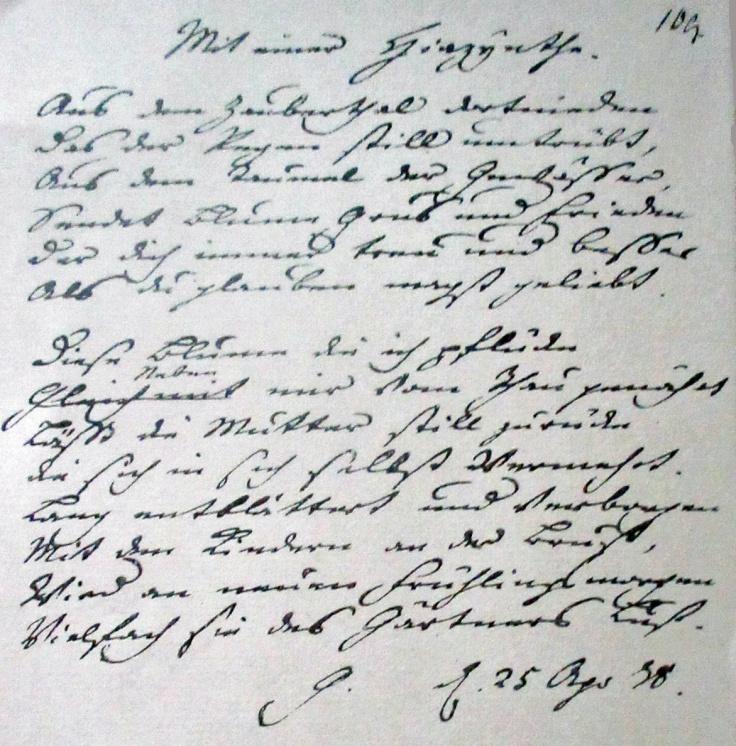 9 Poème de Goethe