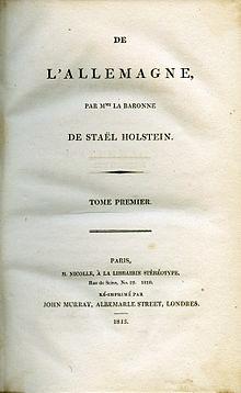 1 livre de STAEL