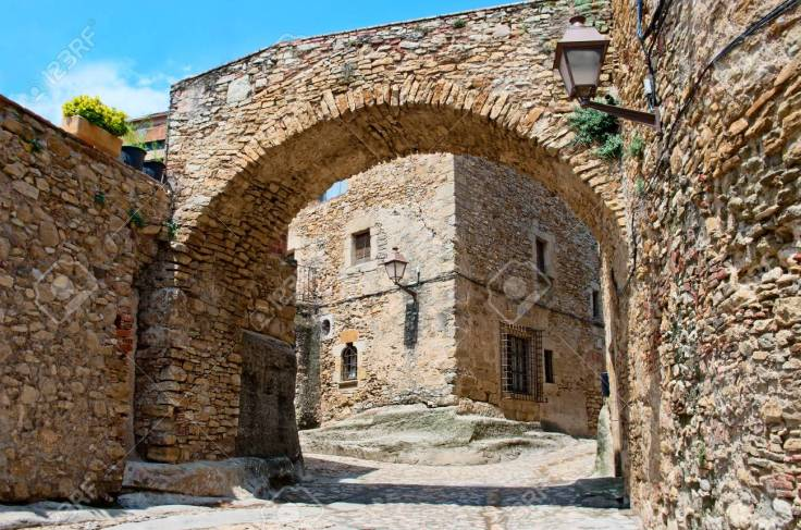 Medieval town  Peratallada in Catalonia, Spain