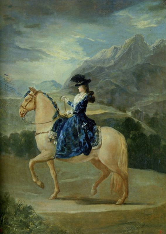 Maria-Teresa-Vallabriga-à-cheval-Goya