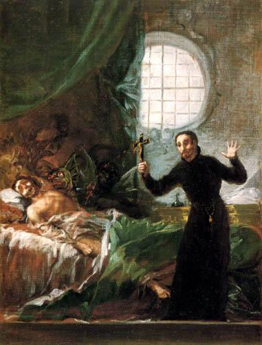 Saint François de Borgia aidant un mourant